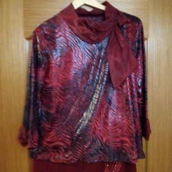 Κοστούμι - τρία (μπλούζα, παντελόνι + φούστα) 54 μέγεθος