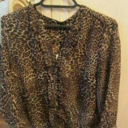 Леопардовая новая блузка с этикеткой