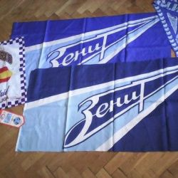 Scarves with the logo of St. Petersburg in St. Petersburg