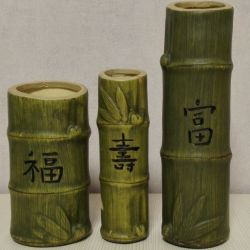 Ваза Стебель Бамбука Керамика 3 шт