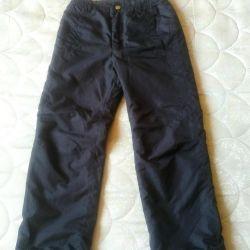 Kızlar için pantolon kış bolonievy 140