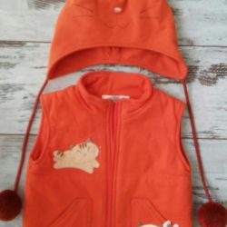 Set of vest and hat 86 rr