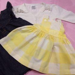 Dress (2pcs) for children 2-6 months, jacket