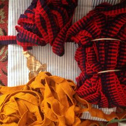 Braid knitted finishing