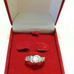 Νικέλιο δαχτυλίδι ασημένιο δαχτυλίδι της ΕΣΣΔ