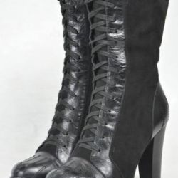 Ankle boots for women. Leather / fur.