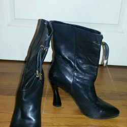 Leather boots 39