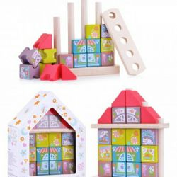Game wooden set Fantastic city