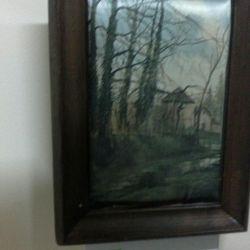 Imagine de mătase ecran, panou cu mama de perla, tava