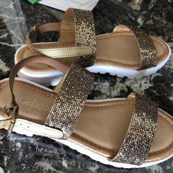 Sandals new shiny