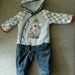 Children's warm overalls.