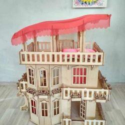 Ляльковий будиночок для Барбі, висота 102 см