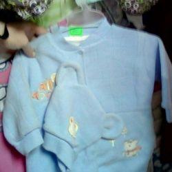 Yeni doğanlar için yeni takım elbise ve kıyafetler