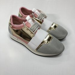 Balenciaga Adidasi alb-roz
