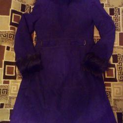 Sheepskin coat natural female