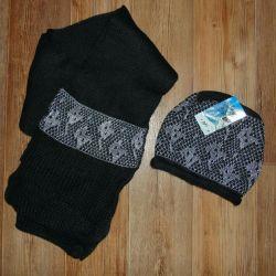 Новий комплект шапка + шарф