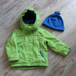 Куртка деми на флисе и шапка PAPAGINO