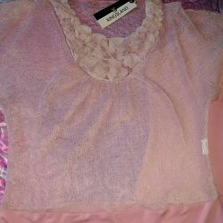 Blouse with a top. New. Size 46-48