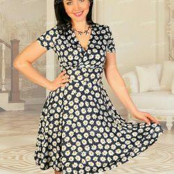 Summer dress in chamomile