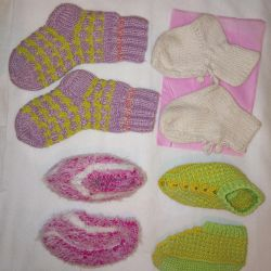 SOCKS and snakes knitted (from 2 to 3 years), WINTER-SPRING