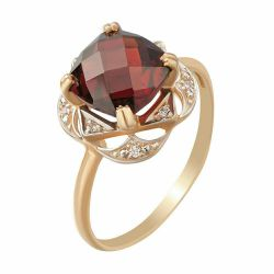 Gold ring with pomegranate