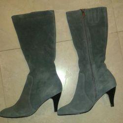 Suede μπότες μέγεθος 37