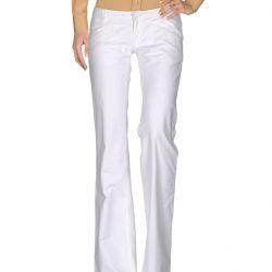 Pantaloni albi de in