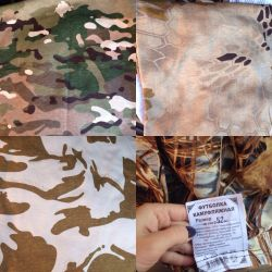 T-shirts camouflage in stock