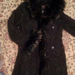 Пальто зимнее с съемной подкладкой на меху