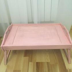Кроватный столик дерево