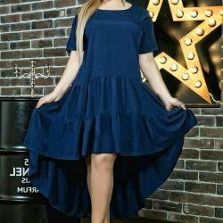 Dark blue summer dress
