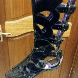 Sandaletler Anna Sui İtalya p.36 nat vernik Yeni