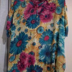 Summer chiffon blouse, r.60