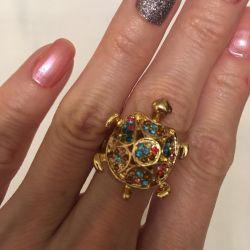Κοσμήματα δαχτυλίδι-χελώνα 17 r