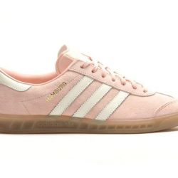 Adidas Hamburg suede light pink with white