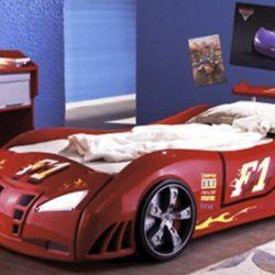 Кровать-машина Форсаж Embawood, красный