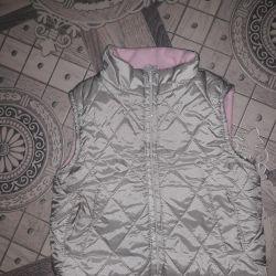 Vest (sleeveless jacket) on height 74-80