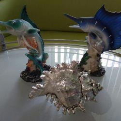 Figurină și crustacee