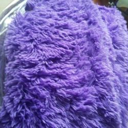 Peluş battaniye lila