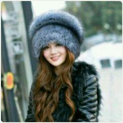 Hat made of fox fur