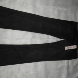 Jeans female black FF, 44 size, New