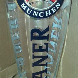 Γυάλινη μπίρα Paulaner XXL όγκο 3 λίτρα