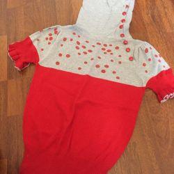 Turtleneck blouse knit
