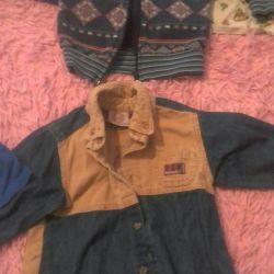 Coats, shirts, turtlenecks; longsliv, T-shirts