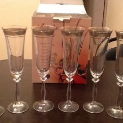 Glasses for champagne 6 pcs.