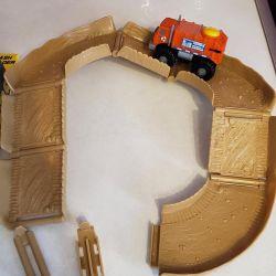 track, machine, cars