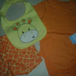 New! Set (body, shorts, bib) GeeJay Baby