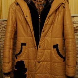 Leather coat 134-140