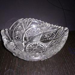 Küçük kristal vazo