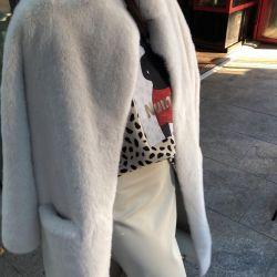 Пальто искусственный мех Корея